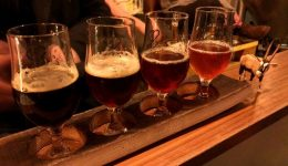 Strassenbraeu craft beer brewery Friedrichshain Berlin beer flight